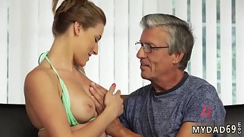 Old cleaning woman Sex with her boycompeer´s father after swimming