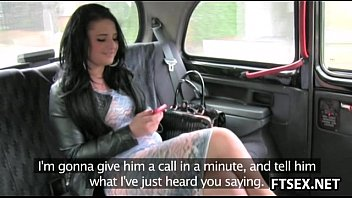 Chubby babe fucks with taxi driver