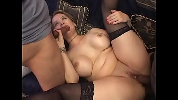 Curvacious blonde housewife with big knockers and massive garage Sophia Mounds invites couple of good-for-nothing but fucking latin studs