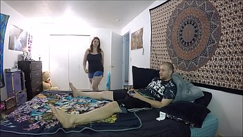 Slutty Step-Sister Fucks Brother For Attention