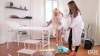 Dominatrix Angelica Heart's lesbian fetish pussy and asshole inspection