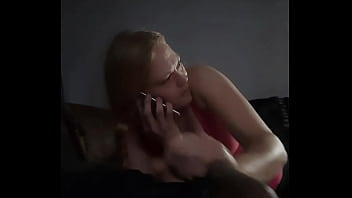 Hand job with bf on the phone
