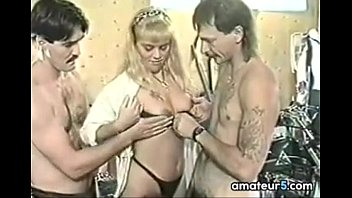 Blonde In A With Bikers Gang Bang Vintage