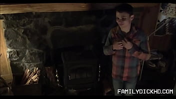 Young Twink Stepson And Stepdad Fuck In Cabin Next To Fireplace thumbnail
