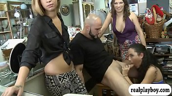 Three tight girls pounded for some money
