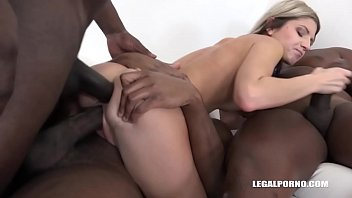 Extra small Gina Gerson Interracial challenge - Airtight 3 Black Monster Cocks