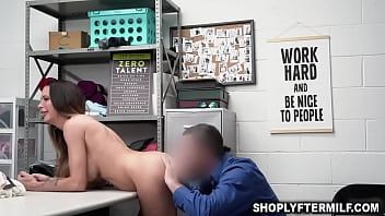 Pervy security officer eating out Mckenzie Lees sweet milf coochie