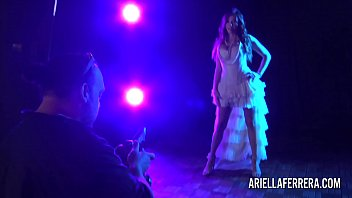 Behind the scenes glamour shoot with Ariella Ferrera