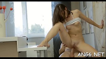 Vigorous Adell adores sex