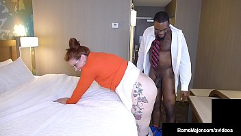 Black Knight Rome Major Bangs Nerdy Nympho Ginger Reigh! image