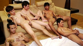 Gay circle pics Five thai boys jerking together
