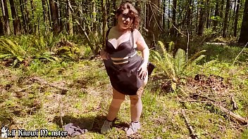 PUBLIC Hike and Fuck in the WOODS! LATINA BBW walks back with CUM on face! *Short Version*