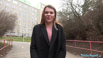 Public Agent Russian shaven pussy fucked for cash 8 min