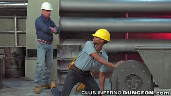 Rubber fisting gay Clubinfernodungeon - black construction worker pays his dues