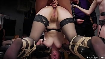 Slaves anal fucked and humiliated