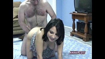 Cute Cristal lifts her skirt and takes some dick