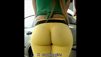 super ass in yellow spandex