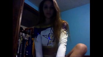Webcam naked practicing cheerleader Teen cheerleader from 69webcam.net teasing