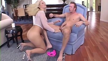 Blondy needs a cock - and Mark Wood will give it to her ..