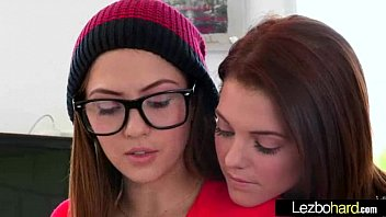 Cute Lovely Lesbos Have Fun On Camera vid-05