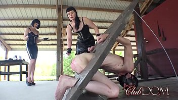ClubDom Mistresses Dominate And Cane Their Slave