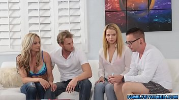 Alina sucked her step brothers hard cock