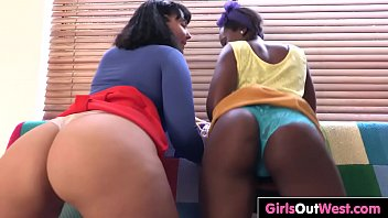 Interracial sex with hairy busty lesbians