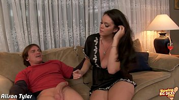 Sexy Alison Tyler blowing a big dick thumbnail