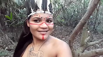 Tribal Girl Having Sex In The Woods With A Raped Man