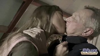 Very Old Man Fucks v. Girl And Cums On Her Tongue After Pussy Sex