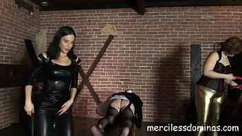 Susan The Sissy - Madame Lucrecia and Lady G make slave cum