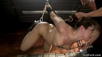 Keira Croft restrained and used as slave