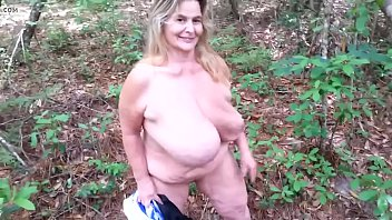 Tits old woman fallen in the forest.