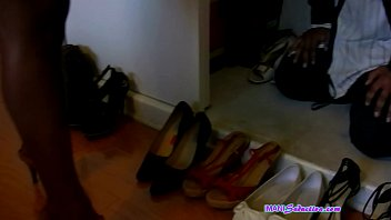 Closet Shoe Licker Serves Ebony Goddess feet