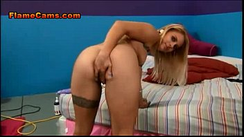 Horny Blonde With A Garter Tattoo