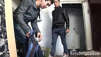 Gay leather look Two boys hook up for gay one-on-one