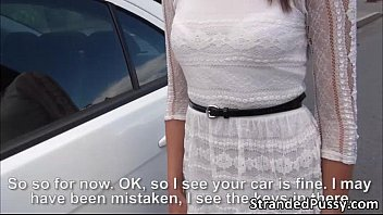 Cutie teen Foxy Di gets anal fucked by dude in the backseat of the car thumbnail