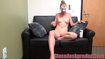 Shy contortionist shows me just how to treat her puss