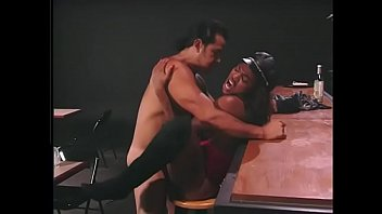 Hot black slut Janet Jacme with big tits gets fucked in a bar