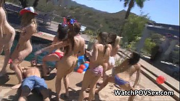 Pool Party Ends With Hot Fucking
