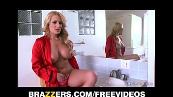 Single blonde MILF catches her peeping tom and punishes him