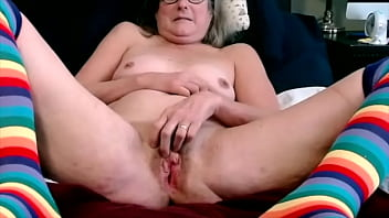 Hot Mom Plays With Her Wet Cunt Spreads Wide Ready To Fuck