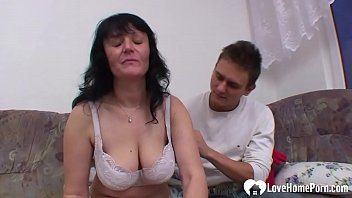 Aroused MILF wants her stepson's raging dick