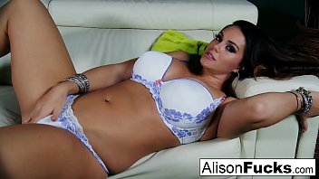 Alison Tyler shows off her curves and masturbates