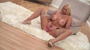 Absolutely Stunning British Glamour Babe Cara Brett Makes Her Tits Sway