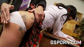 Bad school girl Lexi Wood fucking by the principal and the teacher