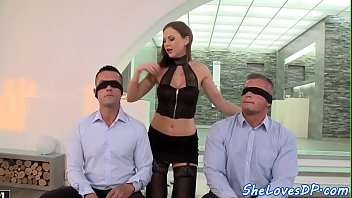 Glamorous MILF DP pounded by lucky cocks