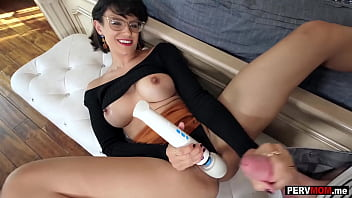 Amazing stepmom MILF is a horny woman and she jerked me