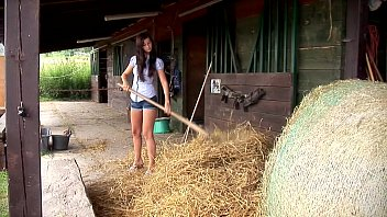 Megan Cox Masturbates Outdoors. See Her Getting Hot In The Hay.
