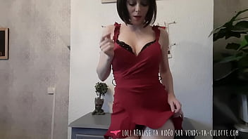 Vends-ta-culotte - French Brunette Babe Strip and Orgasm 11 min